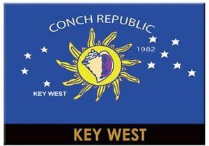 KEY-WEST-CONCH-REPUBLIC-FLAG-FRIDGE-COLLECTOR-039-S-SOUVENIR-MAGNET-2-5-034-X-3-5-034