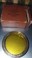 Antique Burke & James  Lens Filter #9 for Plate Camera