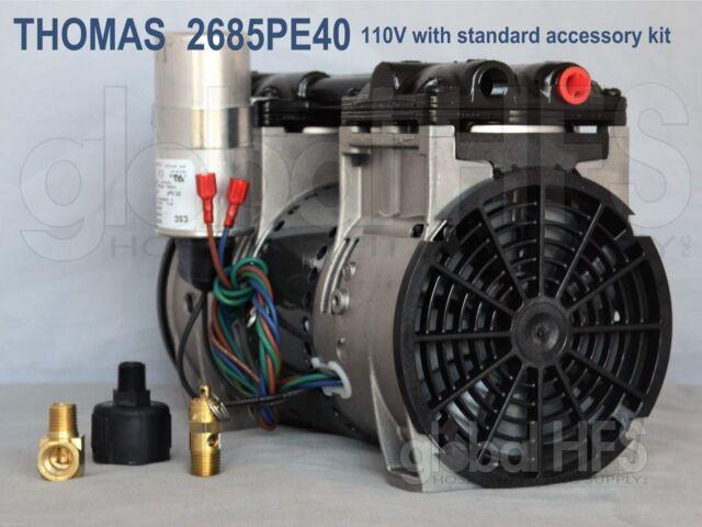 new 110v thomas 2685pe40 3/4hp lake fish garden pond pump aeration  compressor