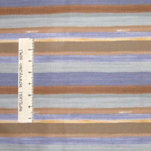 Calico Fabric Westminster Blue /& Brown Stripe Free Spirit YARD
