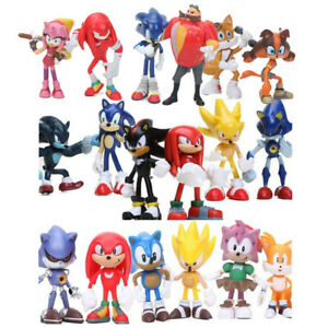 Us Sonic The Hedgehog Knuckles Tails 6 Pcs Action Figure Collection Kids Toys Ebay