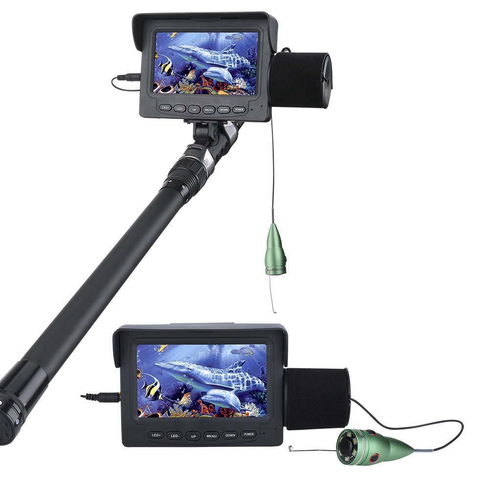 Fish Finder 15M 1000TVL 4.3  LCD Monitor 6PCS 1W White LED Night Vision Camera