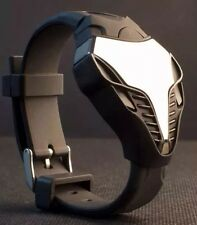 Fashion Men's LED Digital Watch Cobra Triangle Dial Silicone Sports Wrist Watch