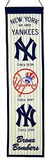 """New York Yankees Embroidered Wool Heritage 32"""" Banner Pennant"""