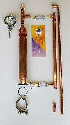 "Moonshine Pot Still Kits for Beer Keg 2/"" Copper Pipe Tri Clamp Bokakob Reflux"
