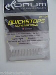 KORUM carpe quickstops XL super solide Transparent - QTY 24 par paquet