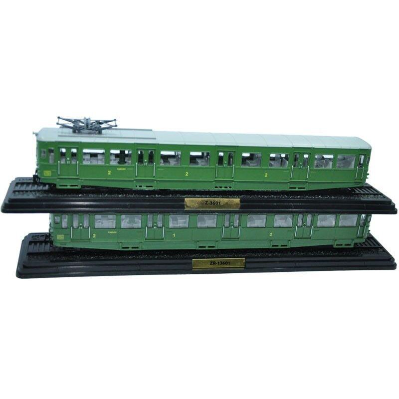 Atlas 1/87 Train Model ZR-13601&Z-3601 Set 2pcs  Collectible ABS Diecast Tram