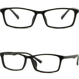 186b7d801524 Image is loading Thin-Light-Mens-Women-Frame-Rectangular-Plastic- Prescription-