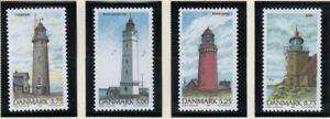 Denmark-Sc-1055-58-1996-Lighthouses-stamp-set-mint-NH