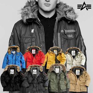 alpha industries herren winter jacke mountain parka mit fell jacket s bis 5xl ebay. Black Bedroom Furniture Sets. Home Design Ideas