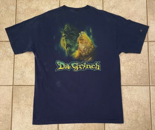 VTG 2000 Da Grinch Christmas Jim Carrey Dr Seuss T