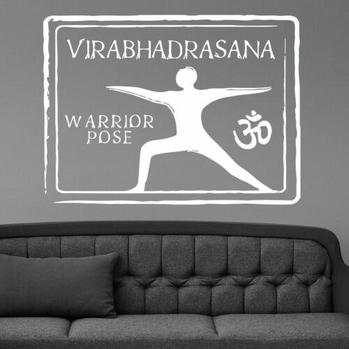 Wall Vinyl Room Sticker Decals Mural Design Warrior Yoga Pose Om Symbol L159