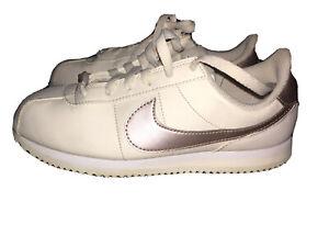 White-Nike-Cortez-With-Rose-Gold-Nike-Logo-6Y