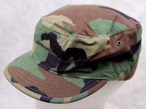 db217f17f57 GENUINE US ARMY ISSUE BDU PATROL CAP HAT WOODLAND CAMOUFLAGE RIPSTOP ...