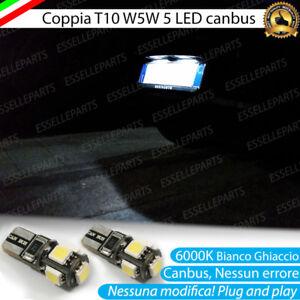 2X LED TARGA T10 W5W CITROEN C3 PLURIEL CANBUS 6000K NESSUN ERRORE