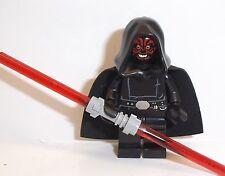 LEGO Darth Maul in vesti di Star Wars & Spada Laser LEGO SW PERSONALIZZATI MINI Figura