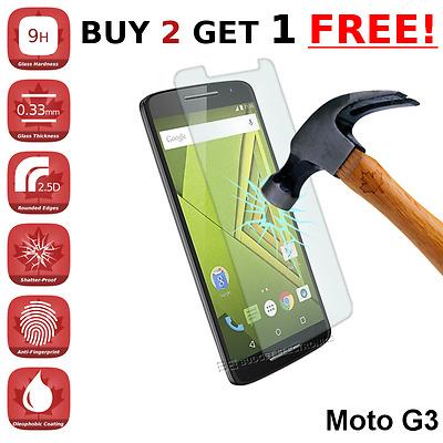 Motorola Moto G 3rd Gen G3 Premium Clear Tempered Glass Screen Protector