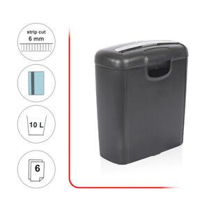 New 6 SHEET Desktop Strip Cut Paper Credit Card Shredder Documents Office Home 699926520404