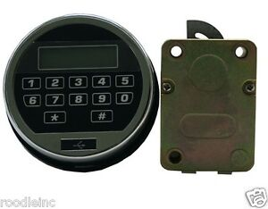 electronic keypad lock for gun any safe vault build your own safe or lock box ebay. Black Bedroom Furniture Sets. Home Design Ideas