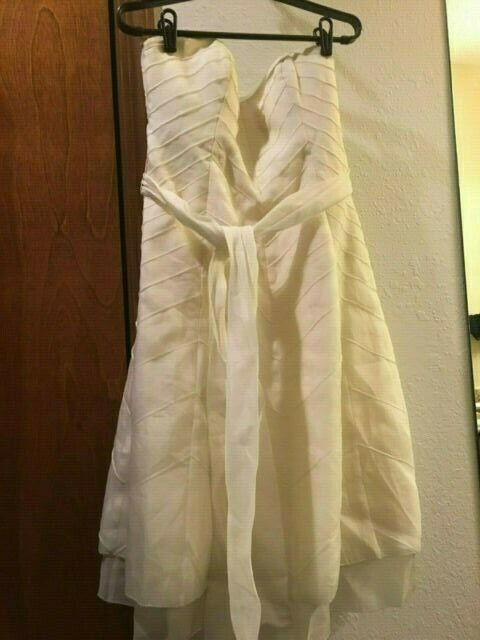 Hitherto 100% Silk Ivory Layerot Flare Lined Dress Formal damen Größe 6 Formal