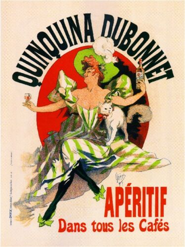 French France Quinquina Dubonnet Liquor Wine Advertisement Art Poster Print