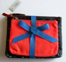 Fossil Keely Dot Double Pouch Cosmetic Bags (Set of 2) #SL7209982 NWT
