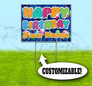 Hy Birthday Custom Name 18x24 Yard