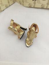 Bright Nights, Big City SHOES - Tonner Ellowyne Wilde doll fashion - gold heels