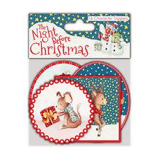 Helz Cuppleditch la noche antes de Navidad Toppers para manualidades de 16 caracteres