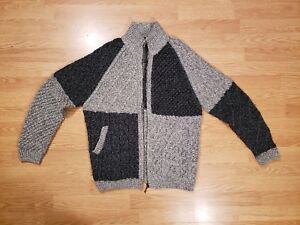 d027182e9fd CARRAIG DONN Ireland Merino Wool Hand Knit Zipper Cardigan SWEATER ...