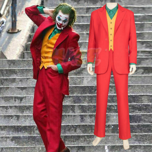 2019 Joker Joaquin Phönix Authur Fleck Cosplay Kostüm Rot Komplettset Unisex