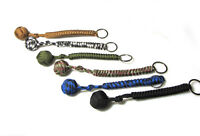 Hot 1pcs High Strength Paracord Lanyard Key Chain With 1' Steel Ball Pick
