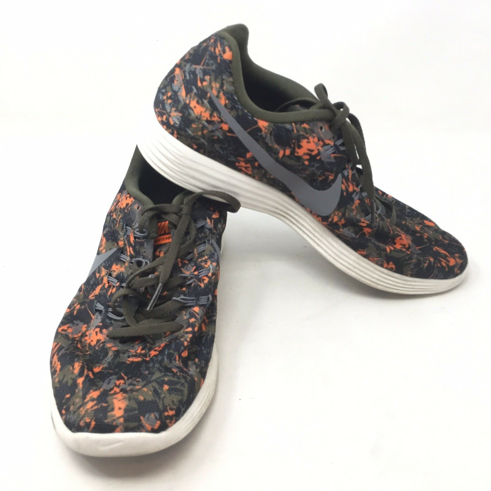 NIKE LunarTempo 2 Floral 831418-300 shoes sz 10 orange Green Lunar Sneakers K7B
