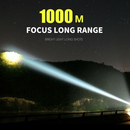 Super Powerful LED Flashlight L2 XHP50 Torch USB Rechargeable DE