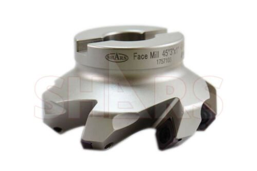 """Shars 3 /"""" 45° Indexable Face Mill 6FL SEHT SEHW Insert  NEW $136.05 OFF"""