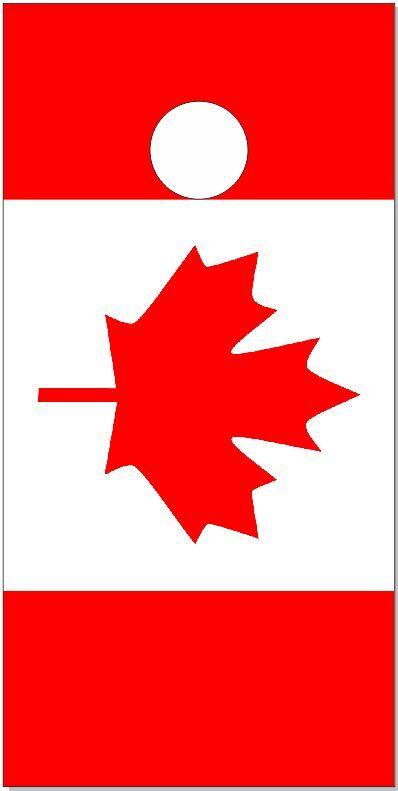 Canadian Flag Flat LAMINATED Cornhole Wrap Bag Toss Skin Decal   inexpensive