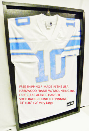 Football Jersey Display case for jerseys or Jersey Frame