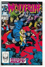 Wolverine 7 2nd Series Marvel 1989 NM Incredible Grey Hulk Karma Las Vegas