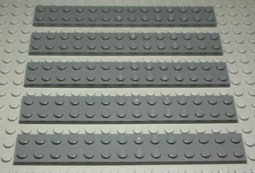Lego Platte 2x14 new Dunkelgrau 5 Stück 1920