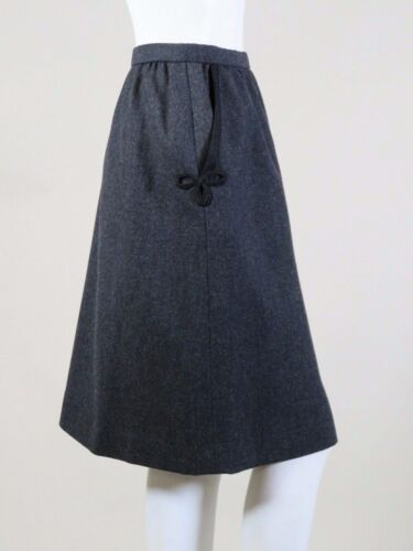 GREY WOOL SKIRT W/PASSEMENTERIE- Attributed to YVE