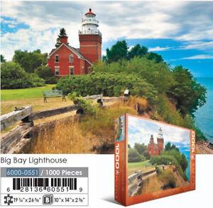 JIGSAW EG60000551 Eurographics Puzzle 1000 Pc - Big Bay Lighthouse, MI