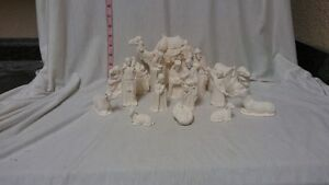 FREE SHIPPING! Riveview 15 piece Nativity ready to paint ceramic bisque