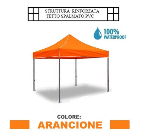 Gartenlaube Klappbar Wasserdicht Aluminium 3x3m Orange Mod Super Ignis