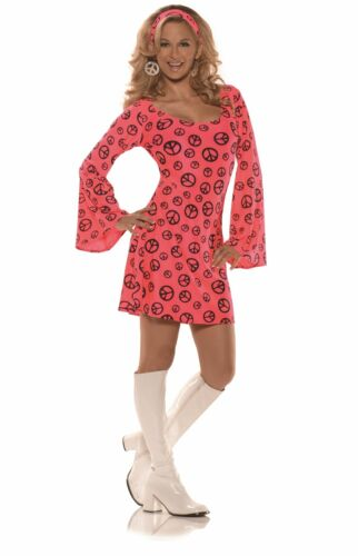 Details about  /Neon Pink Go Go Mini Dress Adult Womens Halloween Costume
