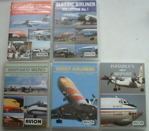 AVION CLASSIC AIRLINER DVDs UK SOVIET IRISH etc Propliners & early jets
