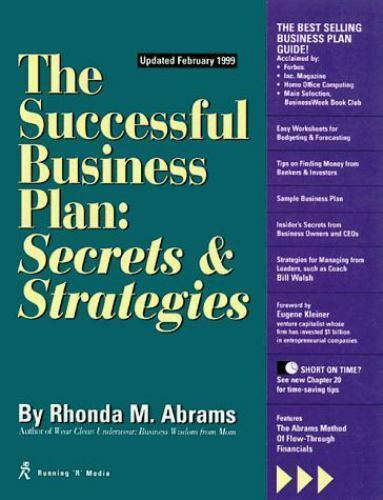 The Successful Business Plan Secrets And Strategies By Rhonda