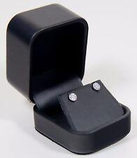 Halo Diamond Earrings 10k White Gold Certified Genuine Natural Diamonds I2 H-J