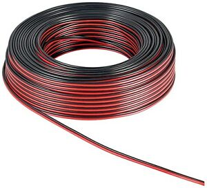 10m lautsprecherkabel 100 kupfer cu 1 30 m schwarz rot 2x1 5mm ls kabel ebay. Black Bedroom Furniture Sets. Home Design Ideas