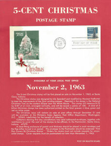 1240-5c-Christmas-Stamp-Poster-Unofficial-Souv-Pg-ft-ArtCraft-FDC