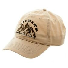 DICKIES KHAKI CURVED BILL ADJUSTABLE HAT CAP TRUE TO OUR ROOTS LOGO MOUNTAINS